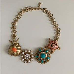 Stella and Dot Beachy Gold Statement Necklace